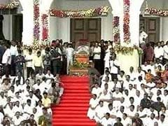 """""""We Lost Our Grandfather"""" Wails Mourner At Karunanidhi's Funeral"""