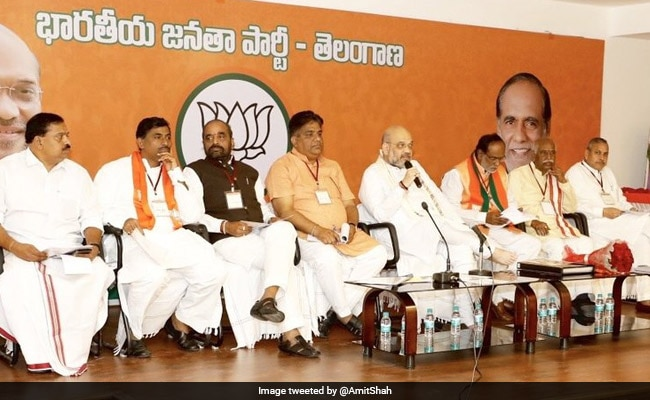 BJP Chief Shah In Hyderabad To Firm Up Telangana Election Strategy