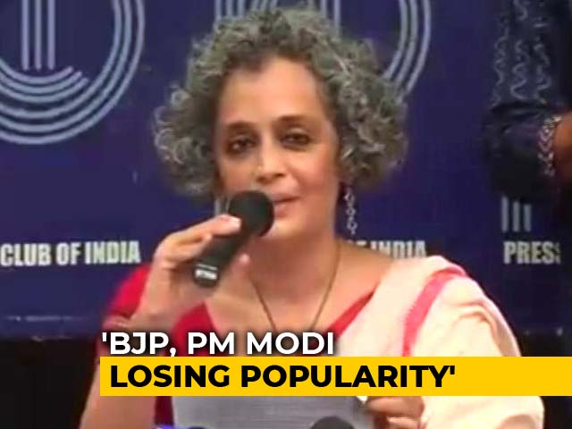 "Video : ""We Are Living In Dangerous Times"", Says Arundhati Roy On Activists' Arrests"