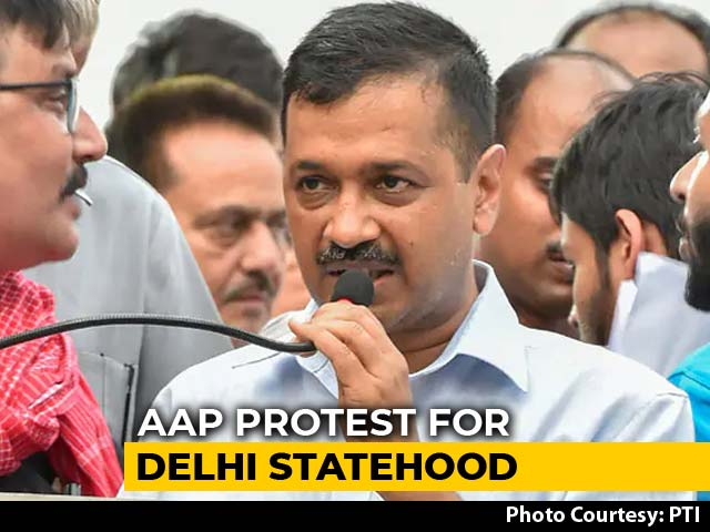 Video : AAP Submits 10 Lakh Letters To PM Modi Demanding Full Statehood For Delhi