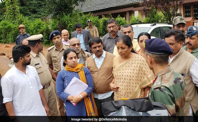 Nirmala Sitharaman Visits Flood-Hit Kodagu, Promises Help
