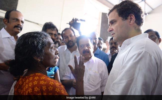 राहुल गांधी दो दिन के केरल दौरे पर, राहत शिविर में जाकर जाना बाढ़ पीड़ितों का दर्द