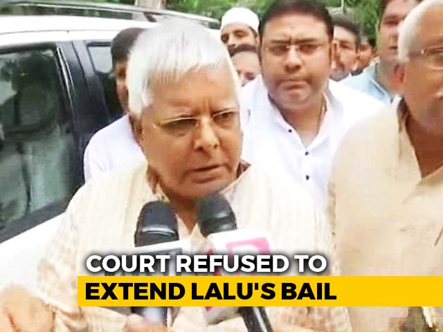 Video : Lalu Yadav Surrenders After Court Turns Down Request For Parole Extension