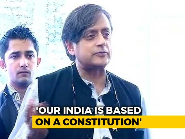 "Video : Shashi Tharoor's ""Hindu Taliban"" Jibe Riles BJP Amid ""Hindu Pakistan"" Row"
