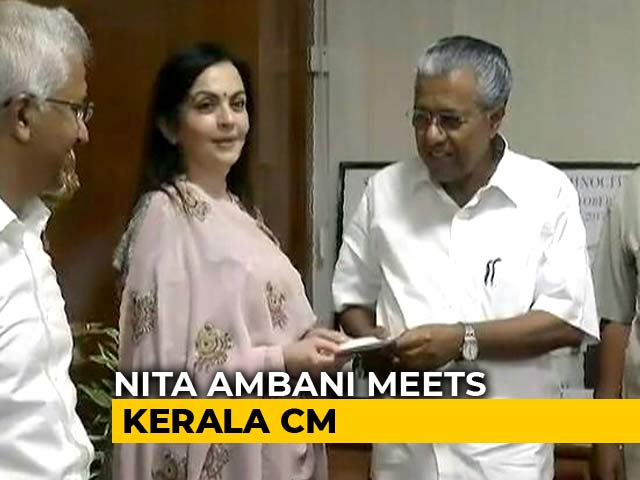Video: Nita Ambani Visits Kerala, Donates For Flood Rehabilitation