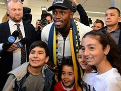 Sprint King Usain Bolt Arrives In Australia On Football Quest