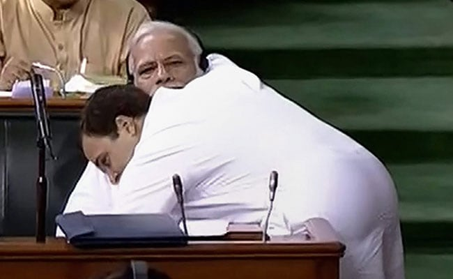 With Video Of Rahul Gandhi Hugging PM, Congress Message To BJP On Hug Day