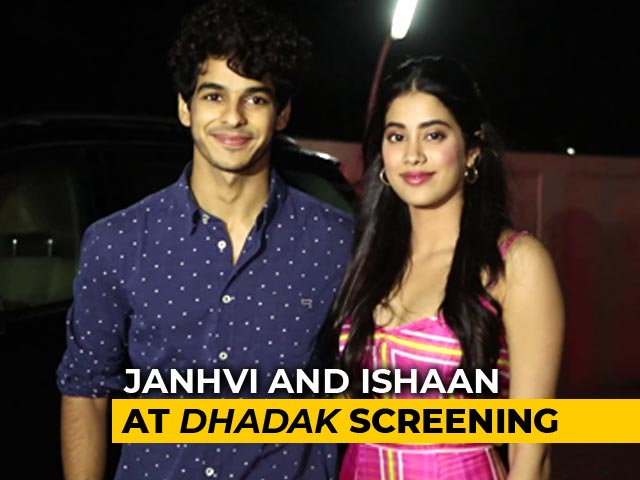 Varun, Karan, Janhvi & Others At The Screening Of Dhadak