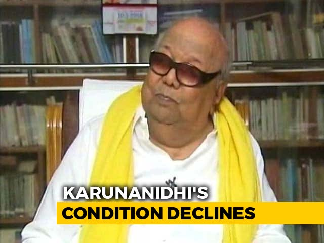 "Video : Karunanidhi's Health Worsens, ""Maintaining Vitals A Challenge"": Hospital"