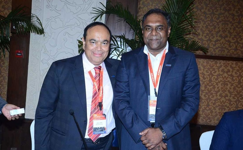 Outgoing President, Nirmal Minda, ACMA with New President Ram Venkataramani, ACMA & MD, IP Rings