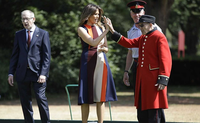 As Trump Tears Up Ties In UK, Melania Makes Paper Flowers