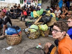 Nearly 700 Trek Down Volcano After Indonesia Earthquake Horror