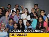 Video : Alia Bhatt & Vicky Kaushal Host A Special Screening Of <i>Raazi</i>