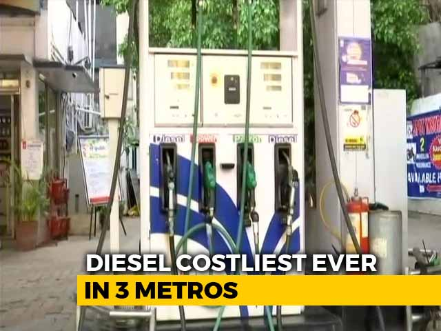 Video : Diesel Prices At Record Highs, Petrol Prices Also Rise