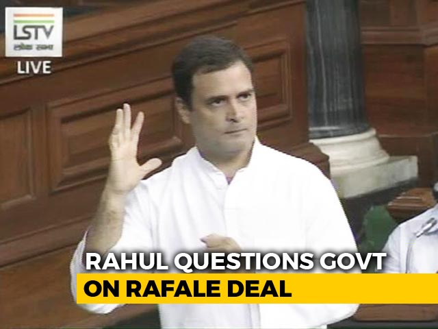 """Video : Rahul Gandhi Attacks PM On Rafale Deal, Says """"He Can't Look Me In The Eye"""""""