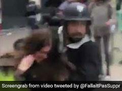 Emmanuel Macron Security Official Filmed Hitting Protester