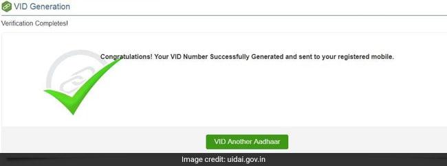 aadhaar vid   uidai website