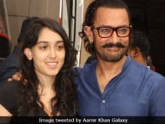 Aamir Khan Catches Up With Daughter Ira At Film Studio. See Pics