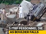 Video : Huge Boulder Crushes ITBP Vehicle In Arunachal Pradesh, 5 Jawans Killed