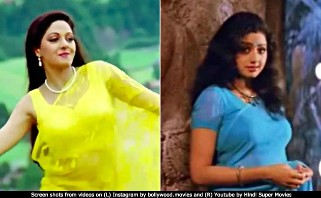 Sridevi Always And Forever 9 Iconic Sarees From Chandnis White Chiffon To Mr Indias Blue