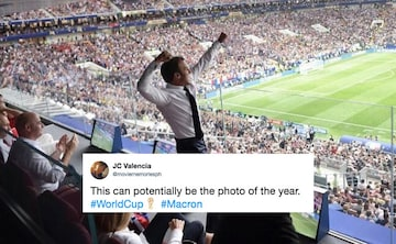 Twitter Loves Emmanuel Macron S Excited Reactions During World Cup Final