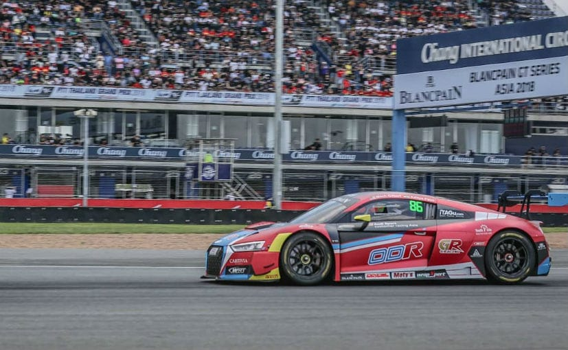 Aditya Patel drives the Audi R8 LMS GT3 in the 2018 Blancpain GT Asia series