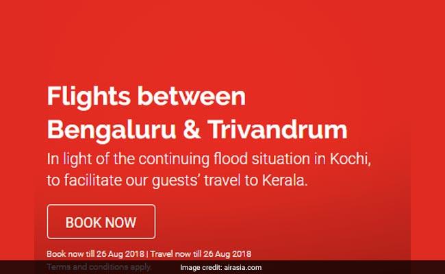 AirAsia Offers Flight Tickets Between Bengaluru, Trivandrum