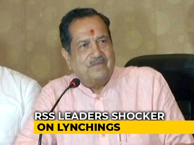 "Video : ""Mob Killings Will End If Sin Of Cow Killing Is Stopped"": RSS Leader"
