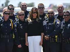 Amid Row Over Border Crisis, Melania Trump Visits Migrant Children