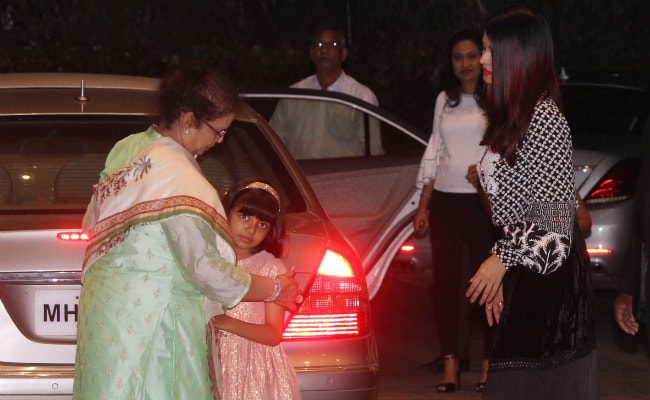 Aishwarya Rai Bachchan And Aaradhya Will Not Let Vrinda Rai Leave Without A Hug And It's So Cute