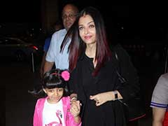 Look Who We spotted At the Airport - Aishwarya Rai Bachchan, Aaradhya. Such Cute Pics