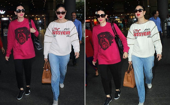 Kareena And Karisma Kapoor's Airport Style Is Trendy And Chic