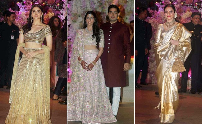 At Akash Ambani-Shloka Mehta Engagement, These Looks Were Absolute Gold! Literally
