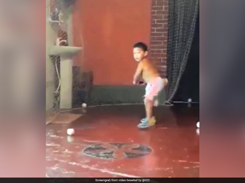 Watch: Two-Year-Old Impresses Fans With His Batting Skills