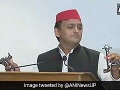 In Row Over UP Bungalow, Akhilesh Yadav Carries Taps To Prove A Point