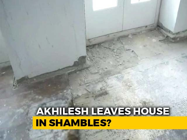 Video : UP Bungalow Vacated By Akhilesh Yadav Shows Damage, Blame Game Follows