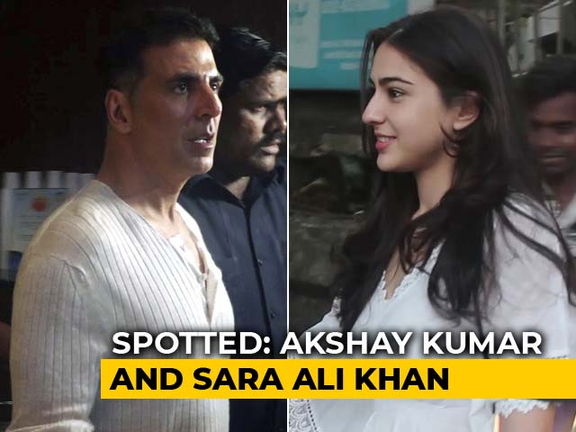 Video : Celeb Spotting: Akshay Kumar, Sara Ali Khan & Others
