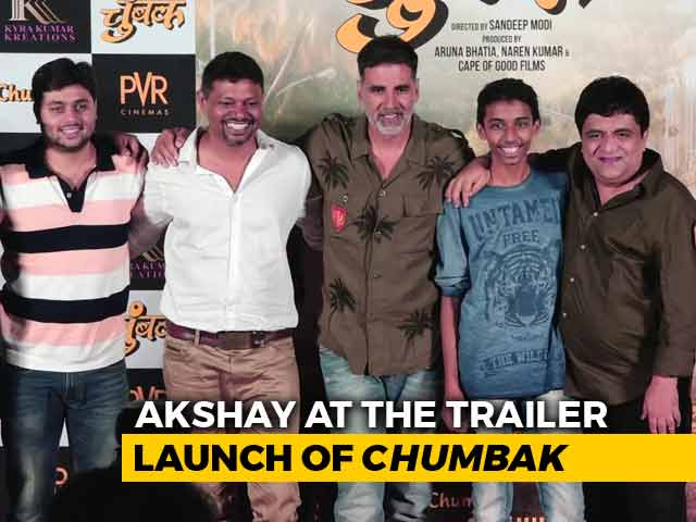 Akshay Kumar At The Trailer Launch Of Marathi Film Chumbak