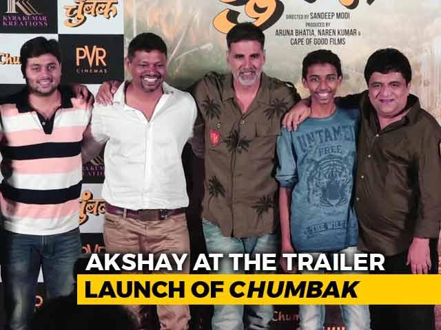 Video : Akshay Kumar At The Trailer Launch Of Marathi Film <i>Chumbak</i>
