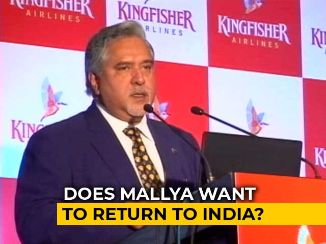 Video : Vijay Mallya Willing To Come Back To India: Reports
