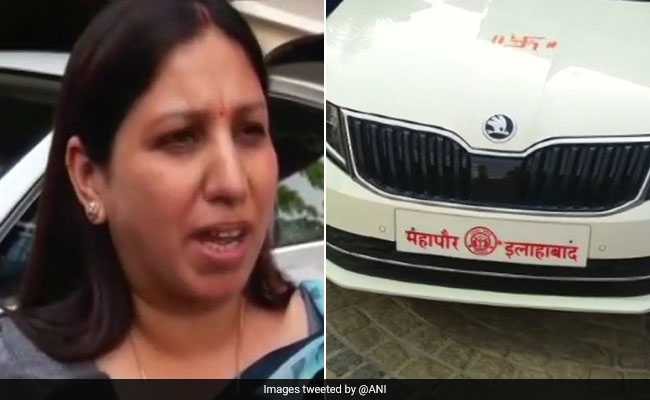 Mayor In UP Seen Travelling In Car Without Number Plate, Explains