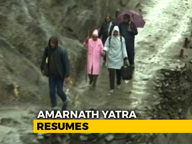 Video : Amarnath Yatra Resumes After Weather Improves, Flood Alert Continues