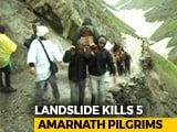 Video : 5 Dead After Landslide On Route To Amarnath Shrine In Jammu And Kashmir
