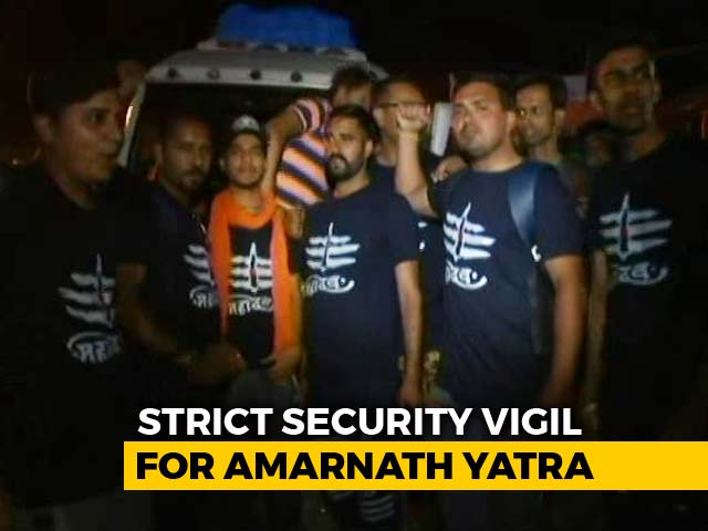 Video : Amid Tight Security, First Batch Of Amarnath Pilgrims Leave Jammu Today