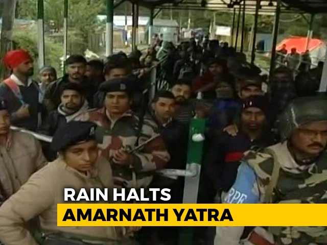 Video : Amarnath Yatra Halted Due To Rain, Pilgrims Safe
