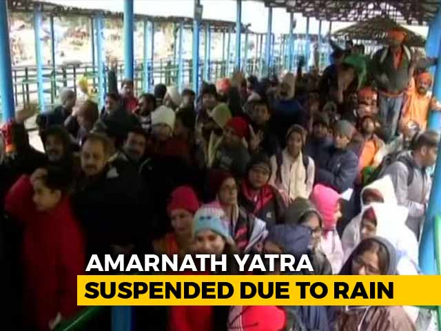 Video : Flood Alert In Jammu And Kashmir, Amarnath Yatra Suspended