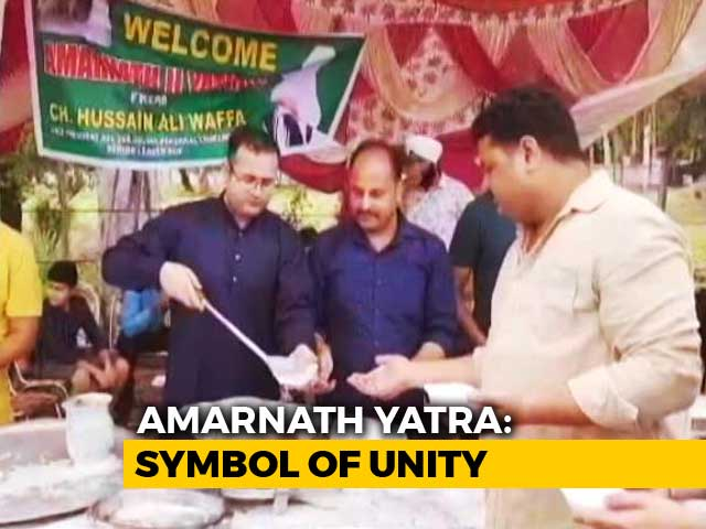 Video : From Amarnath Yatra, A Message Of Unity And Bonding