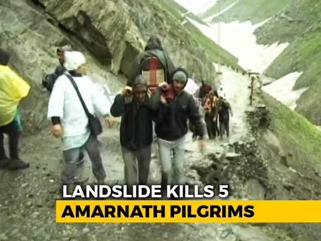 Video : 5 Dead After Landslide On Route To Amarnath Shrine In Jammu And Kashmir