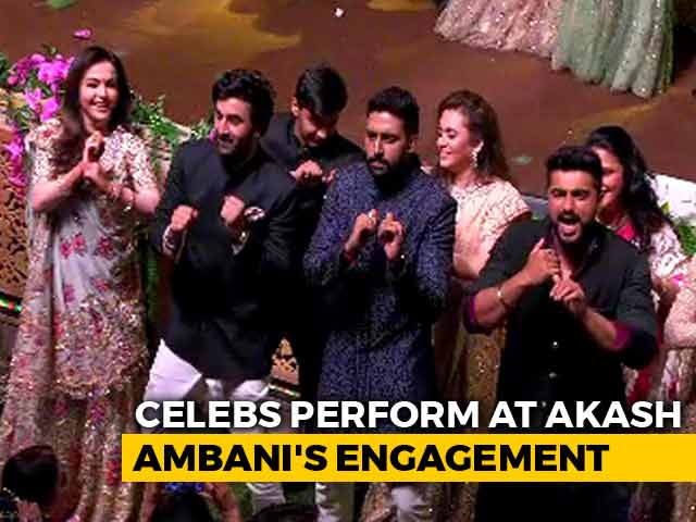Video : Bollywood Stars Perform At Akash Ambani-Shloka Mehta Engagement Party