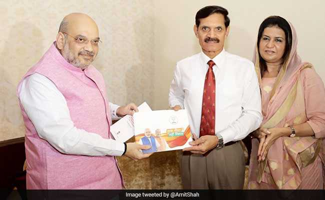 Amit Shah Meets Ex-Army Chief, Kicks Off BJP's Outreach Programme